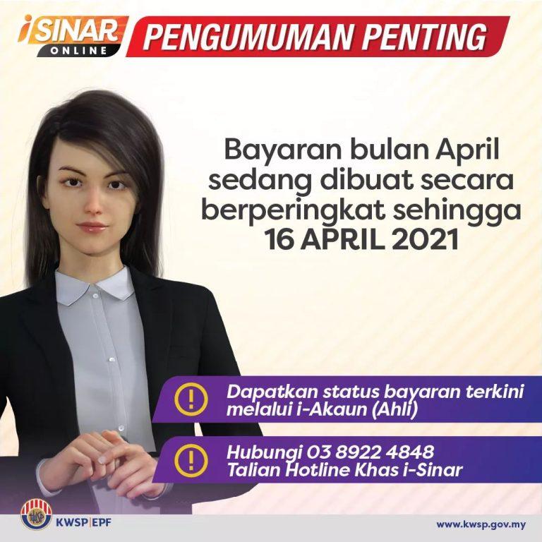 i-Sinar , pengeluaran wang KWSP akaun 1 - Bantuan Prihatin ...